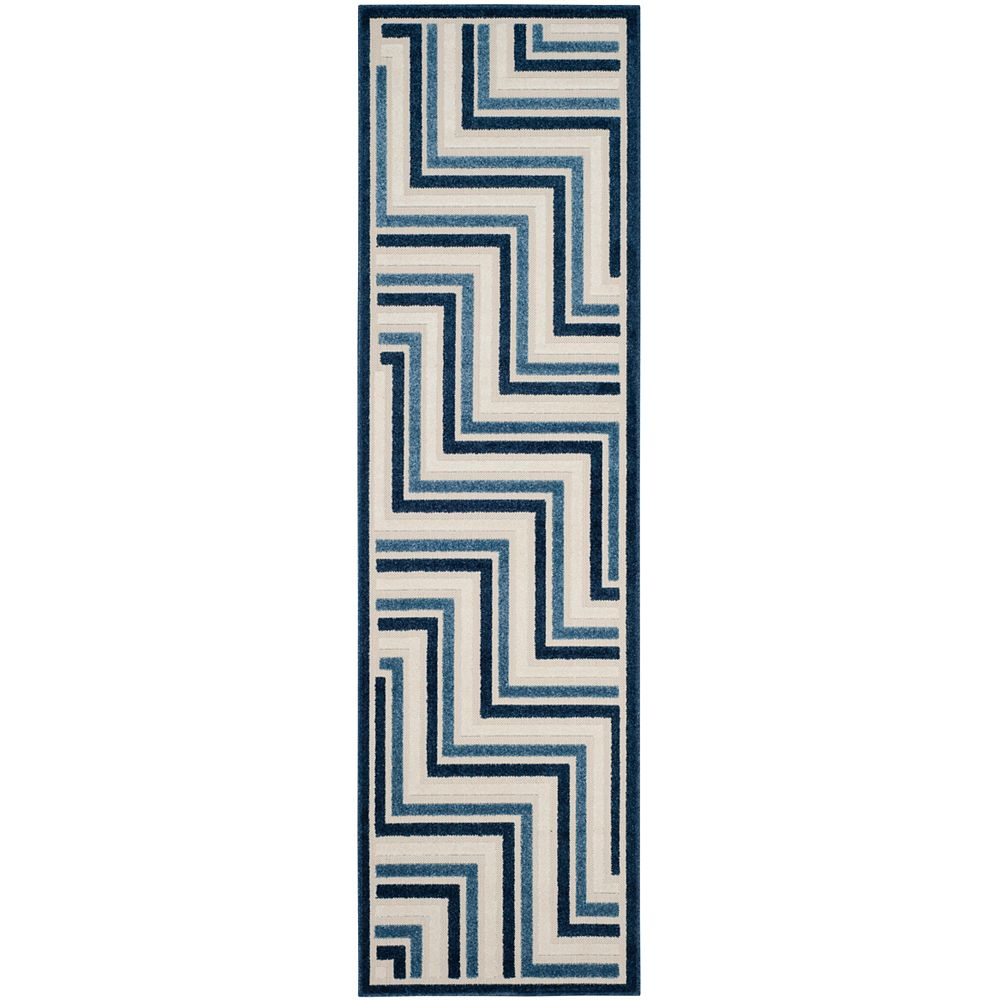 Safavieh Cottage Norton Cream / Blue 2 ft. 3 inch x 8 ft. Indoor/Outdoor Runner
