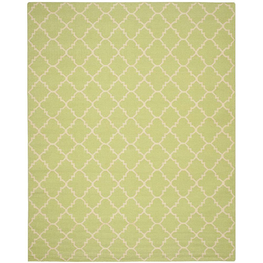 Safavieh Dhurries Franz Light Green / Ivory 8 ft. x 10 ft. Indoor Area Rug