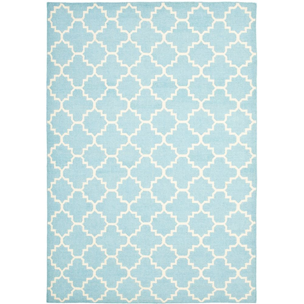 Safavieh Dhurries Franz Light Blue / Ivory 6 ft. x 9 ft. Indoor Area Rug