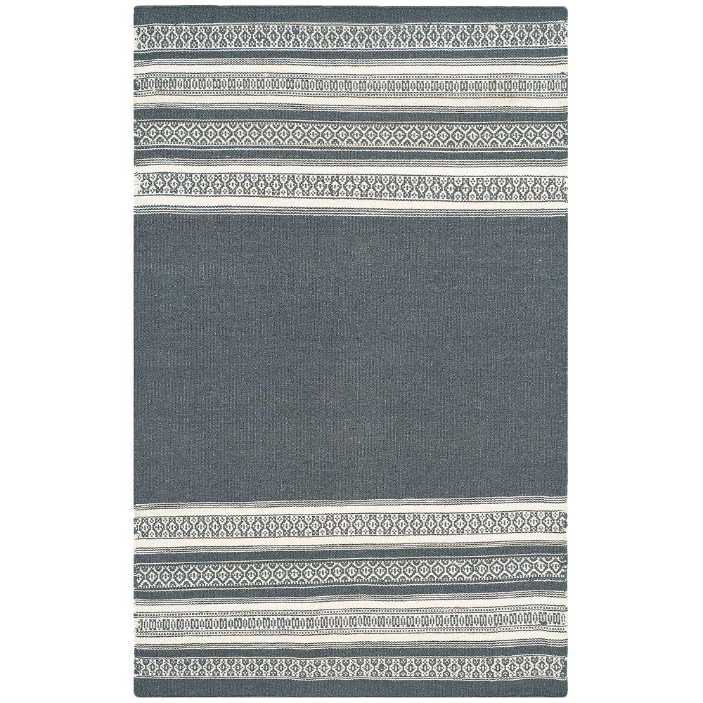Safavieh Dhurries Selma Dark Grey 3 ft. x 5 ft. Indoor Area Rug