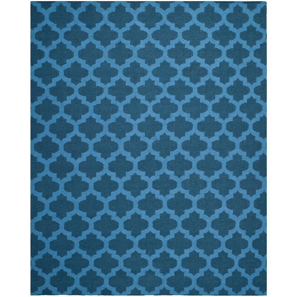Safavieh Tapis d'intérieur, 8 pi x 10 pi, Dhurries Jean, ink / bleu
