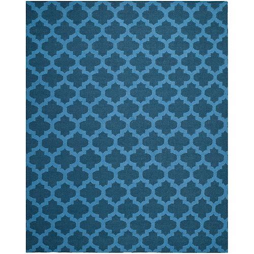 Safavieh Dhurries Jean Ink / Blue 8 ft. x 10 ft. Indoor Area Rug