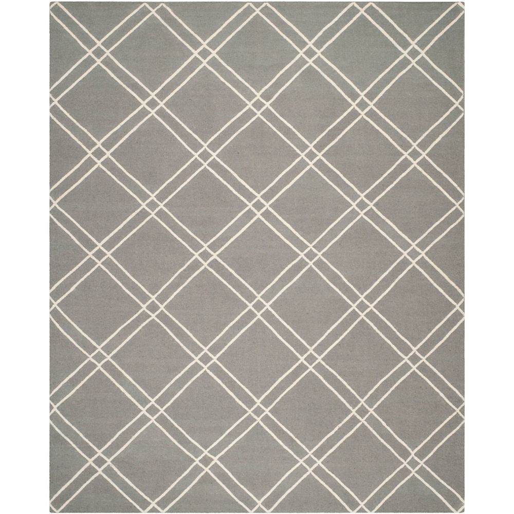 Safavieh Dhurries Frances Grey / Ivory 8 ft. x 10 ft. Indoor Area Rug