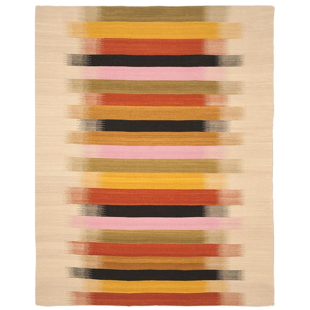 Safavieh Tapis d'intérieur, 8 pi x 10 pi, Dhurries Tobin, beige / multi