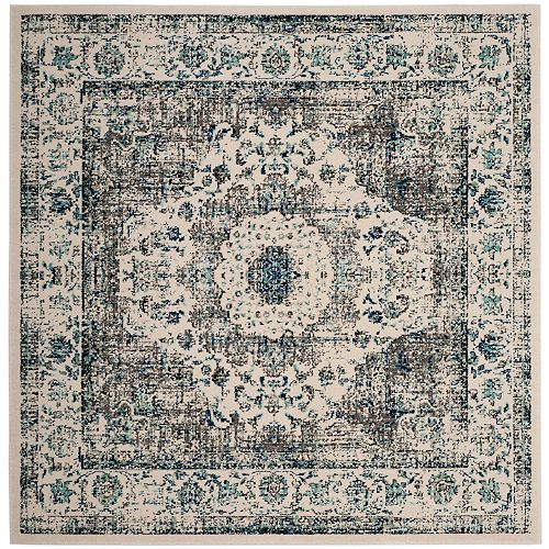 Safavieh Evoke Jaime Grey / Ivory 5 ft. 1 inch x 5 ft. 1 inch Indoor Square Area Rug