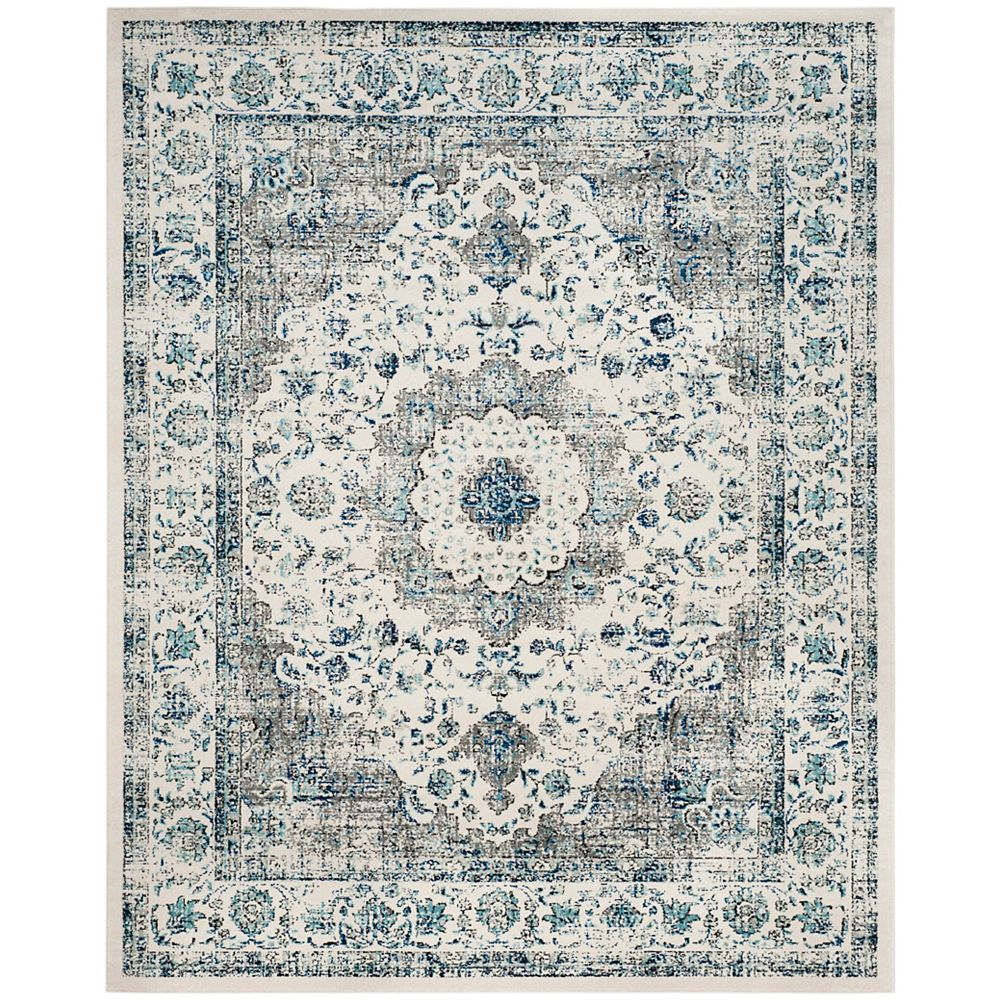 Safavieh Evoke Jaime Grey / Ivory 8 ft. x 10 ft. Indoor Area Rug