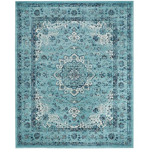 Evoke Jaime Light Blue 8 ft. x 10 ft. Indoor Area Rug