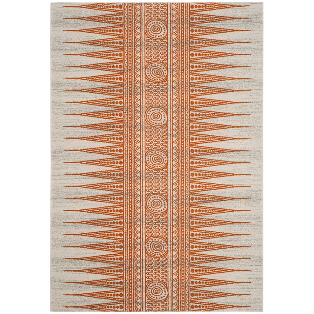 Safavieh Evoke Sabrina Ivory / Orange 5 ft. 1 inch x 7 ft. 6 inch Indoor Area Rug