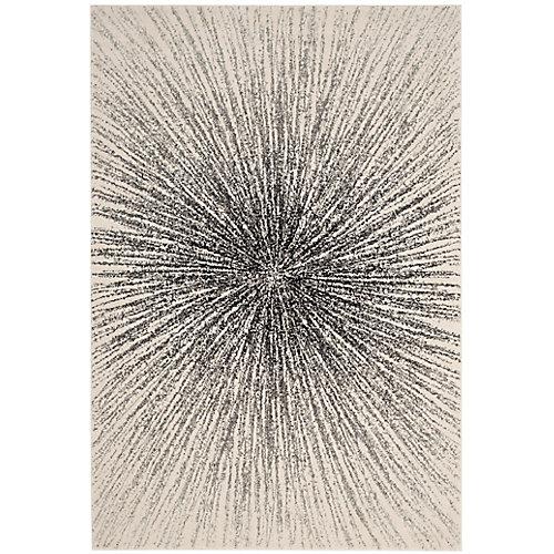 Evoke Martin Black / Ivory 8 ft. x 10 ft. Indoor Area Rug