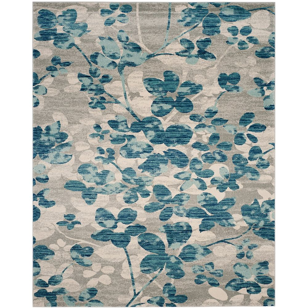Safavieh Evoke Victor Grey / Light Blue 8 ft. x 10 ft. Indoor Area Rug