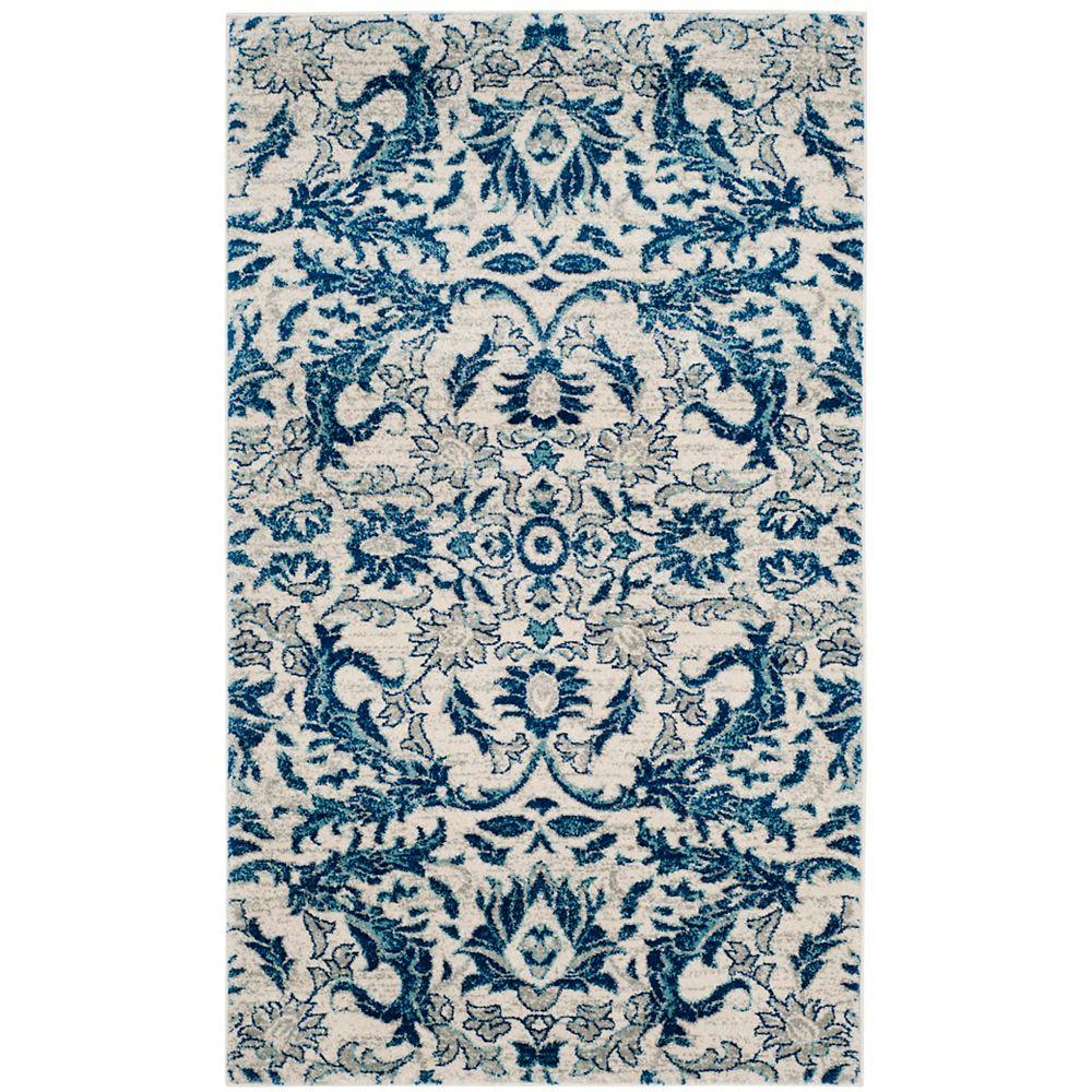 Safavieh Evoke Tobias Ivory / Blue 5 ft. 1 inch x 7 ft. 6 inch Indoor Area Rug
