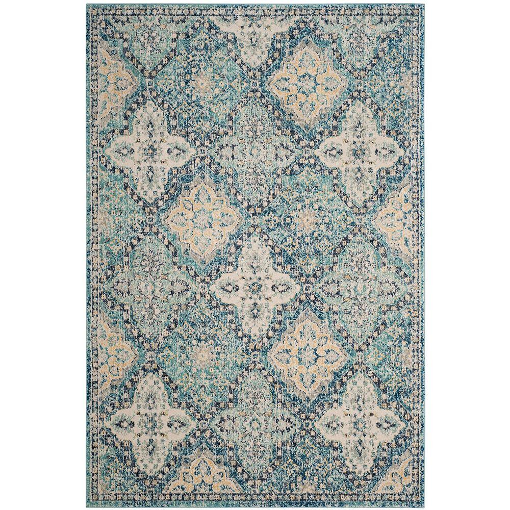 Safavieh Evoke Cara Light Blue / Ivory 5 ft. 1 inch x 7 ft. 6 inch Indoor Area Rug