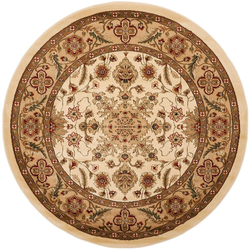 Safavieh Lyndhurst Cory Ivory / Tan 5 ft. 3 inch x 5 ft. 3 inch Indoor Round Area Rug
