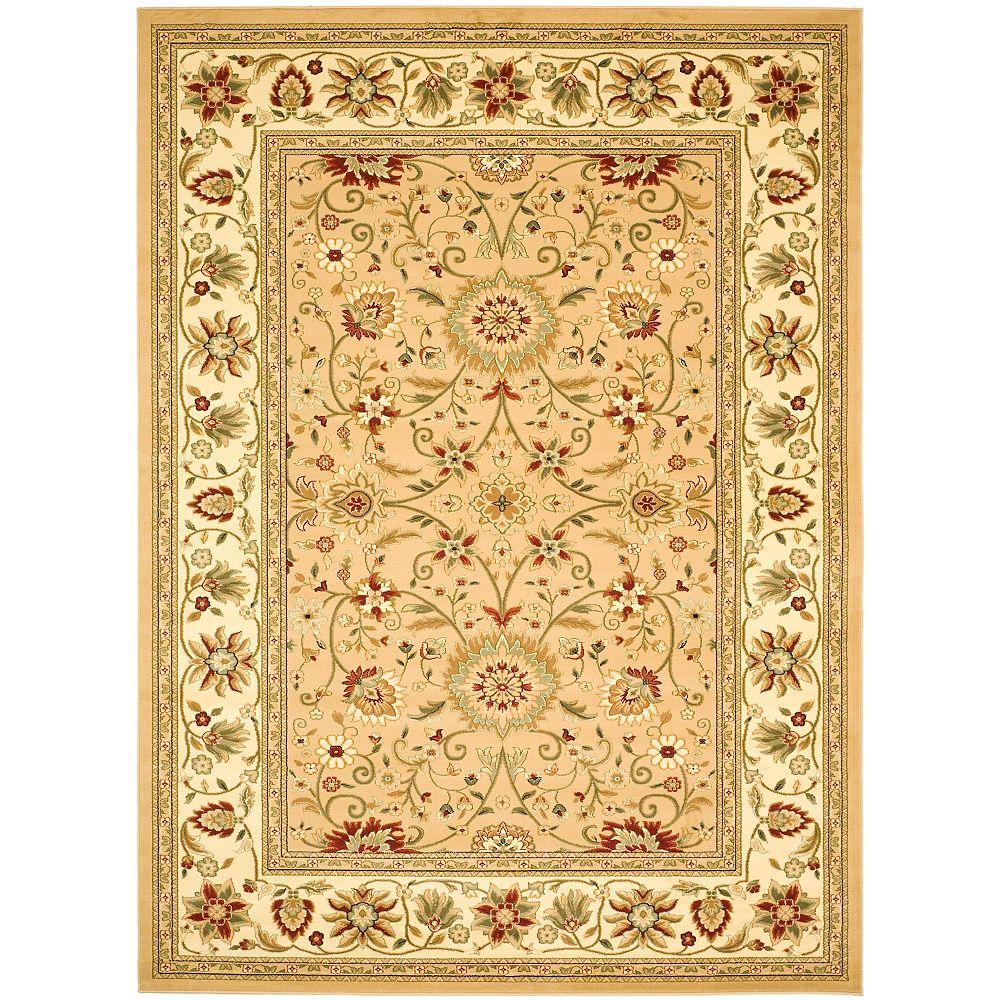 Safavieh Tapis d'intérieur, 9 pi x 12 pi, Lyndhurst Byron, beige / ivoire