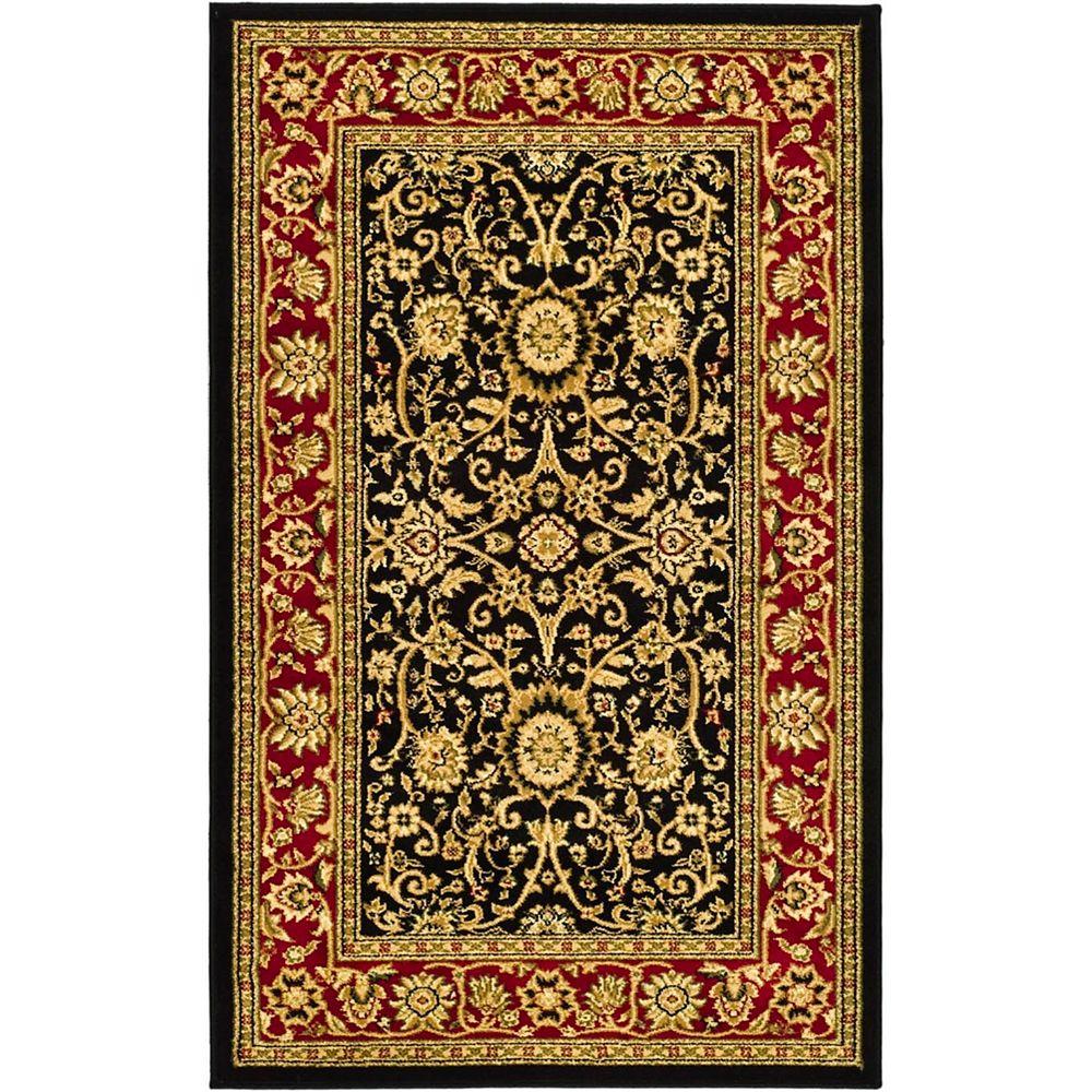 Safavieh Lyndhurst Byron Black / Red 3 ft. 3 inch x 5 ft. 3 inch Indoor Area Rug