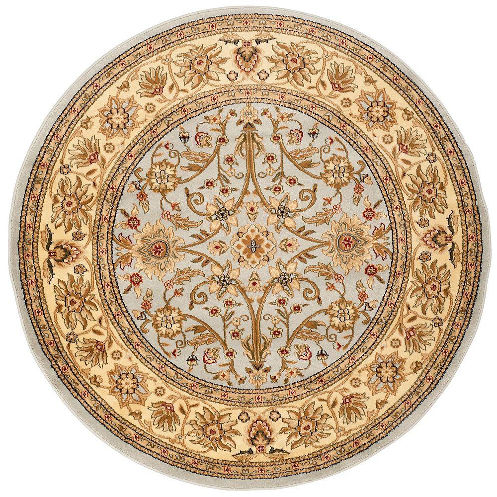 Safavieh Tapis d'intérieur rond, 6 pi x 6 pi, Lyndhurst Byron, gris / beige