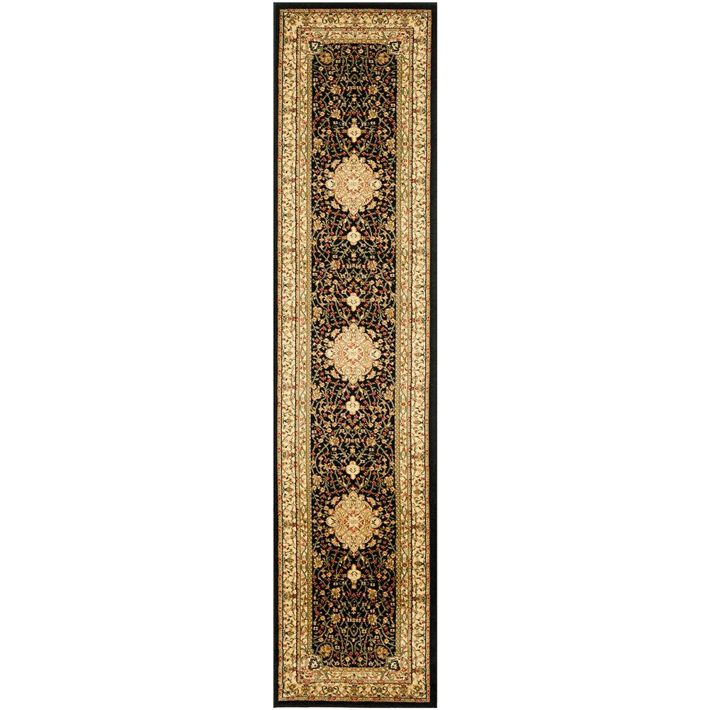 Safavieh Lyndhurst Eva Black / Ivory 2 ft. 3 inch x 10 ft. Indoor Runner