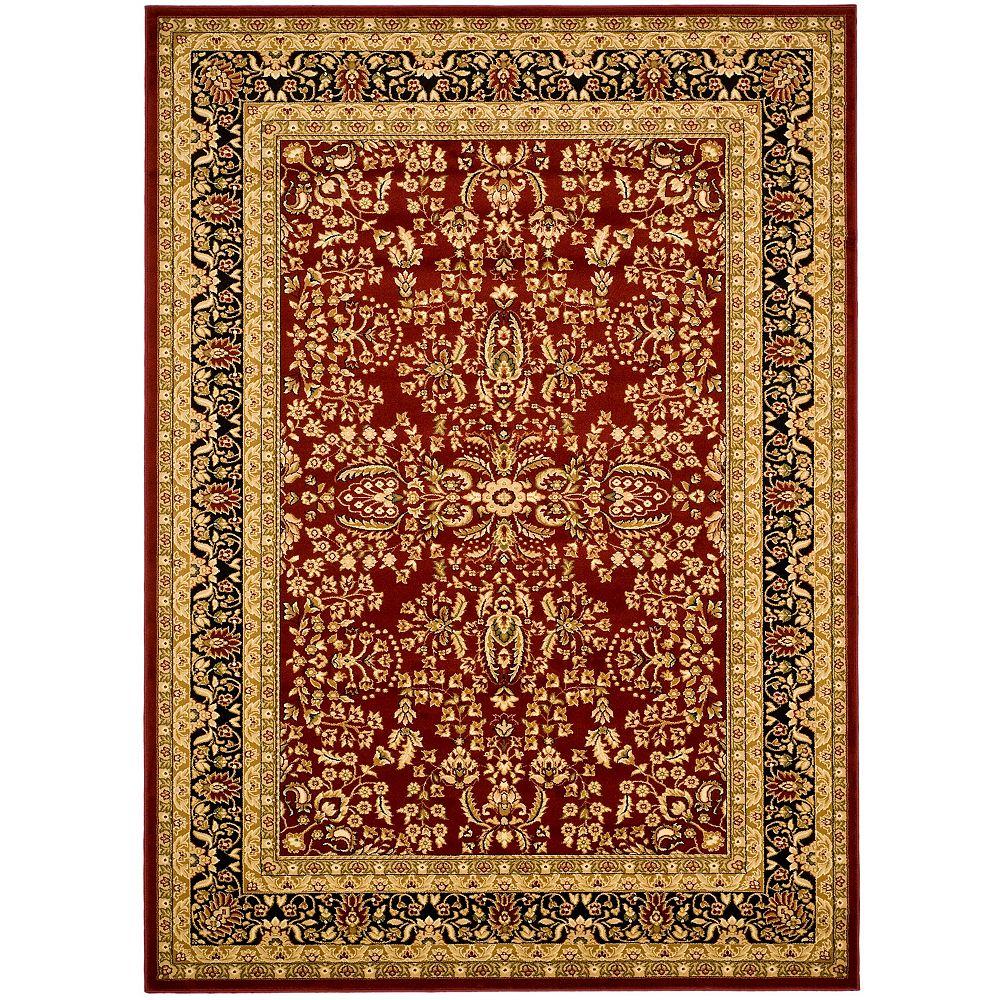 Safavieh Lyndhurst Dee Red / Black 5 ft. 3 inch x 7 ft. 6 inch Indoor Area Rug
