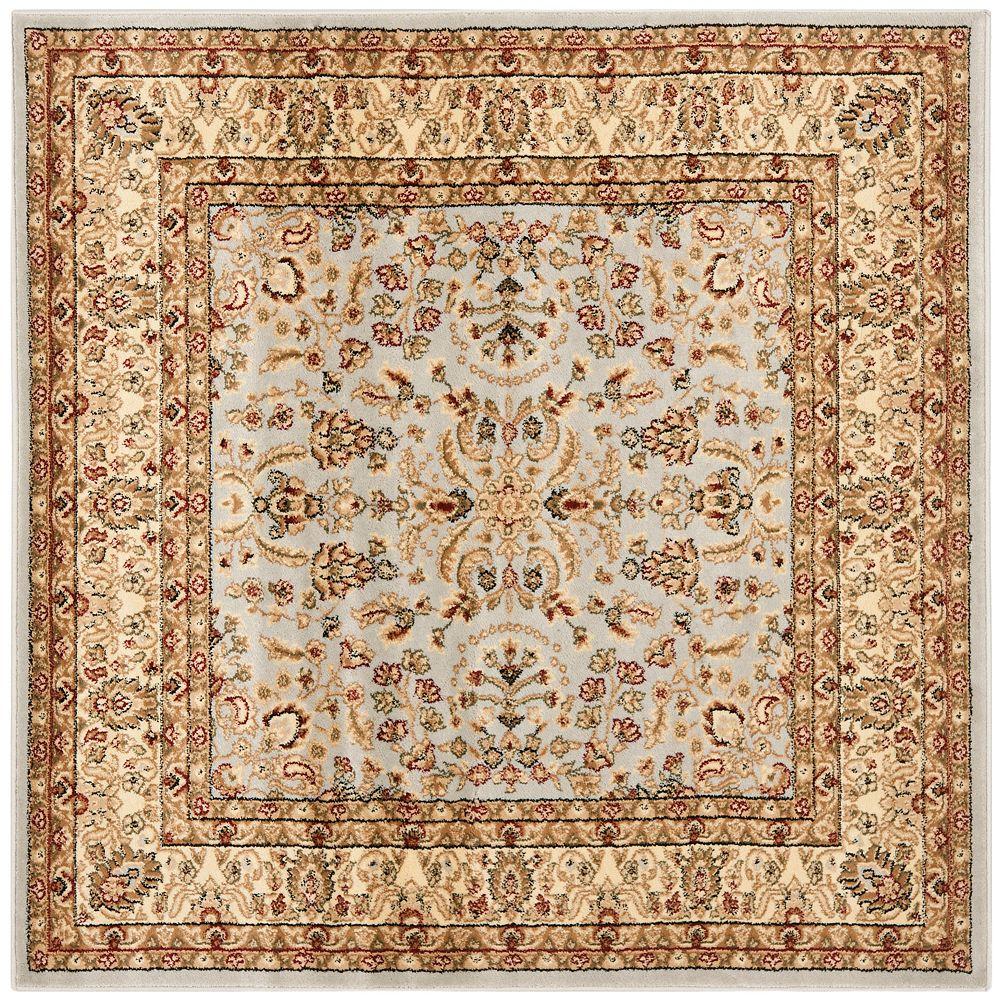 Safavieh Tapis d'intérieur carré, 5 pi x 5 pi, Lyndhurst Dee, gris / beige