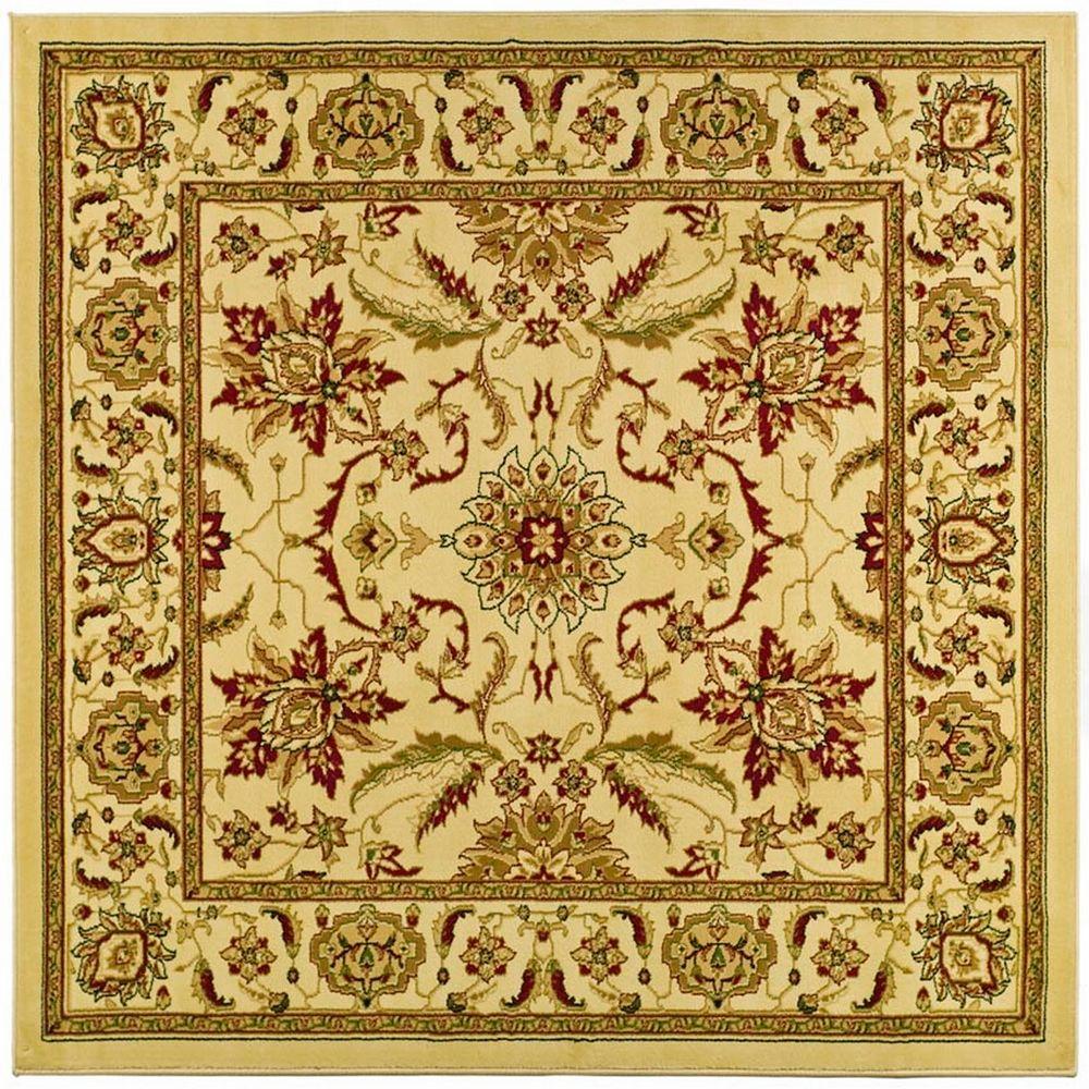 Safavieh Tapis d'intérieur carré, 6 pi x 6 pi, Lyndhurst Eli, ivoire