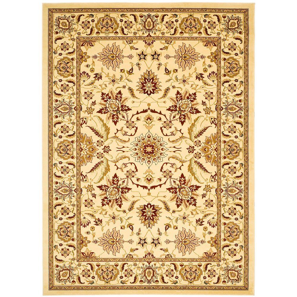 Safavieh Tapis d'intérieur, 8 pi x 11 pi, Lyndhurst Eli, ivoire