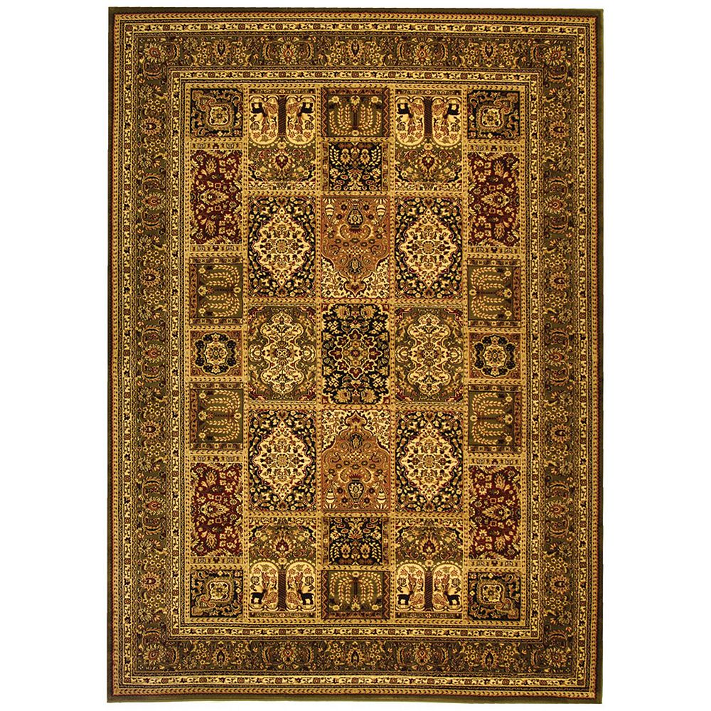 Safavieh Lyndhurst Zoe Multi / Green 6 ft. x 9 ft. Indoor Area Rug