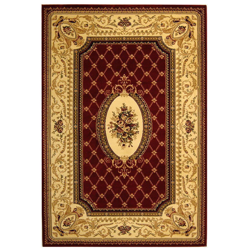 Safavieh Lyndhurst Lita Red / Ivory 5 ft. 3 inch x 7 ft. 6 inch Indoor Area Rug