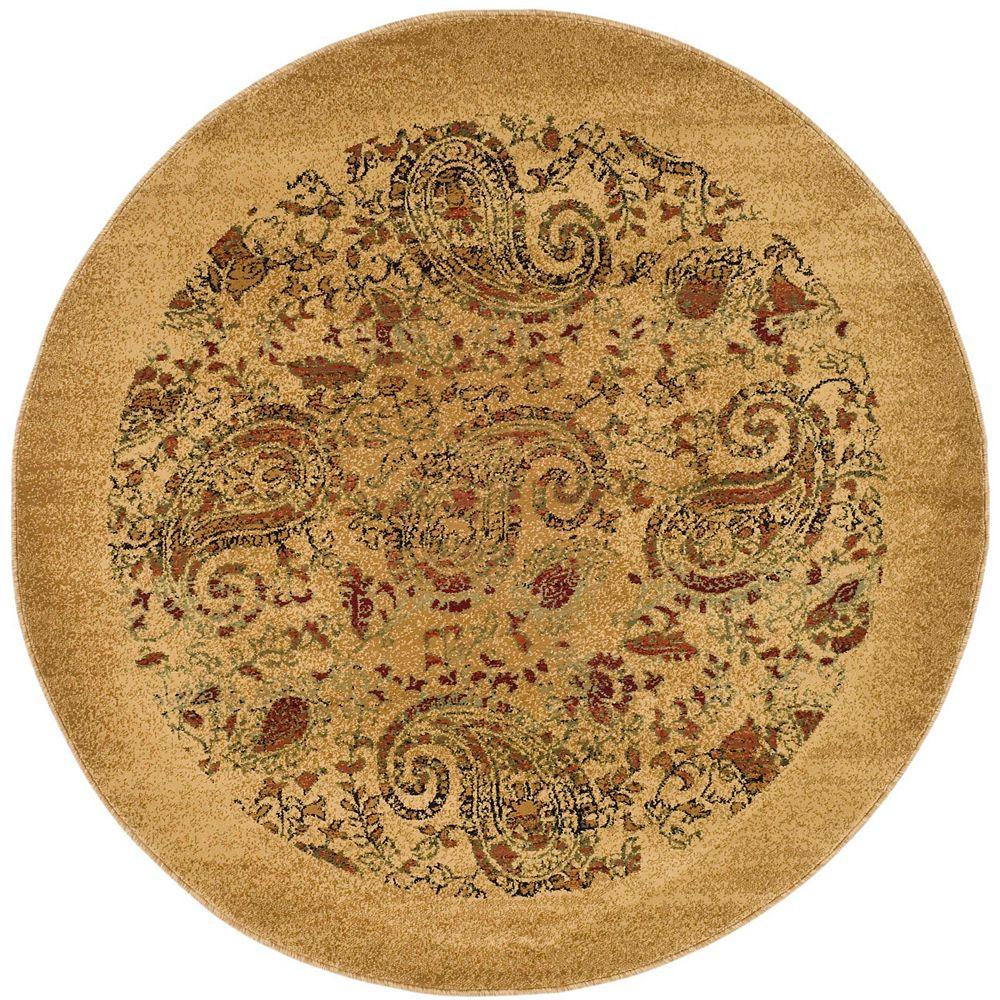 Safavieh Tapis d'intérieur rond, 7 pi x 7 pi, Lyndhurst Devon, beige / multi