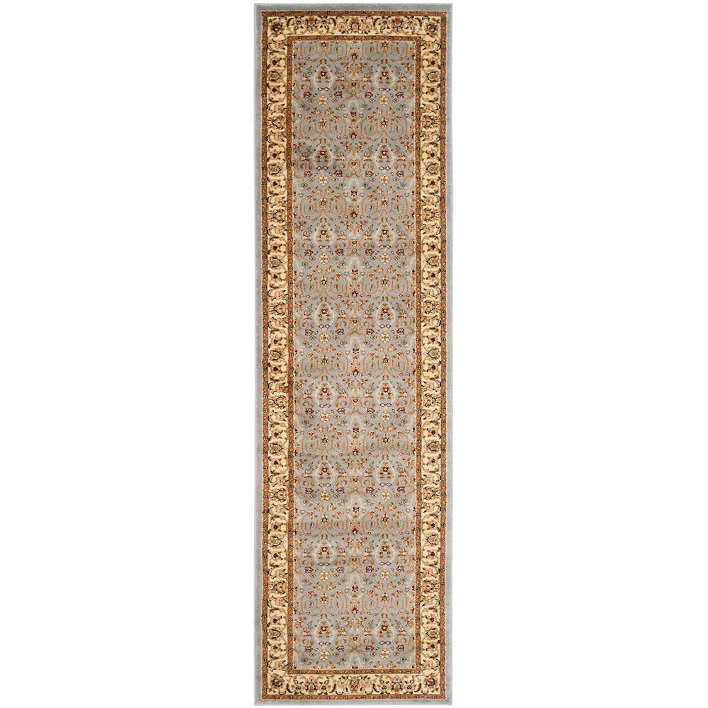 Safavieh Lyndhurst Adria Light Blue / Ivory 2 ft. 3 inch x 18 ft. Indoor Runner