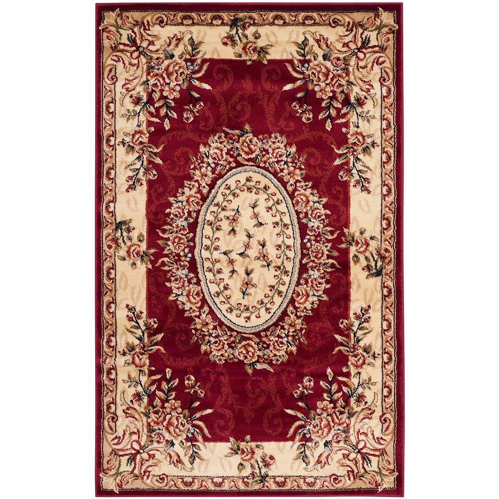 Safavieh Lyndhurst Fez Red / Ivory 3 ft. 3 inch x 5 ft. 3 inch Indoor Area Rug