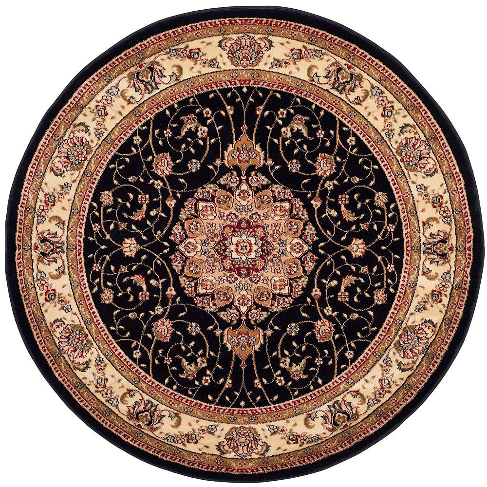 Safavieh Lyndhurst Gavin Black / Ivory 4 ft. x 4 ft. Indoor Round Area Rug