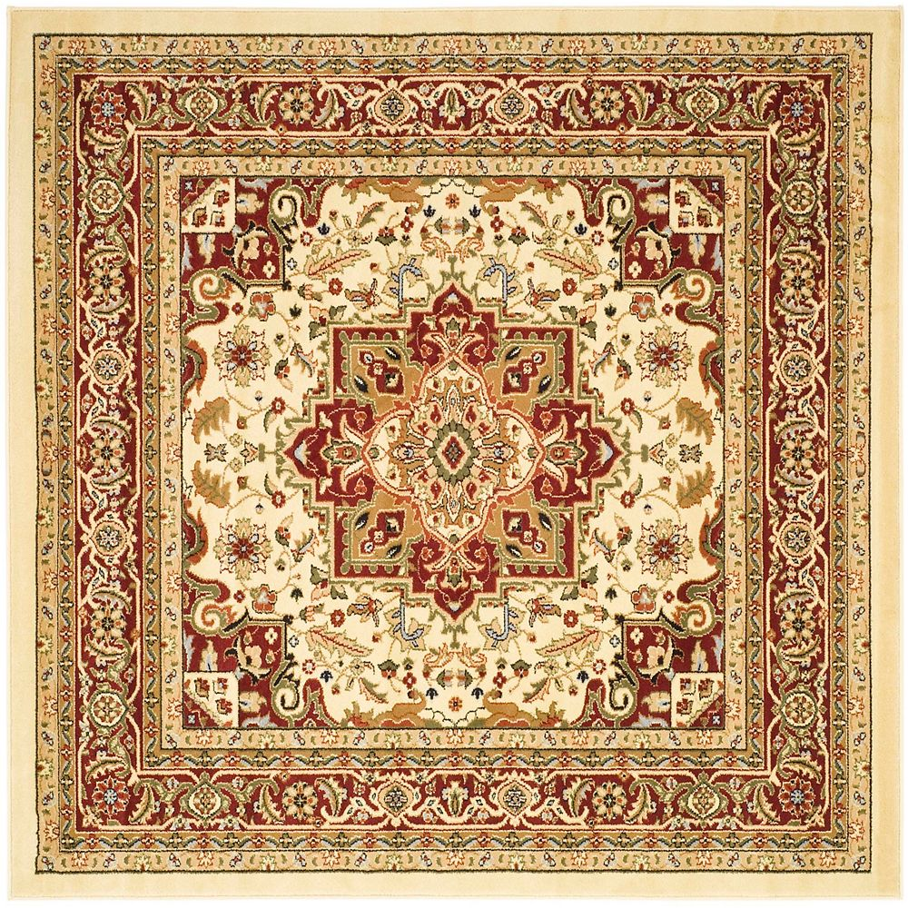 Safavieh Lyndhurst Thane Ivory / Red 8 ft. x 8 ft. Indoor Square Area Rug