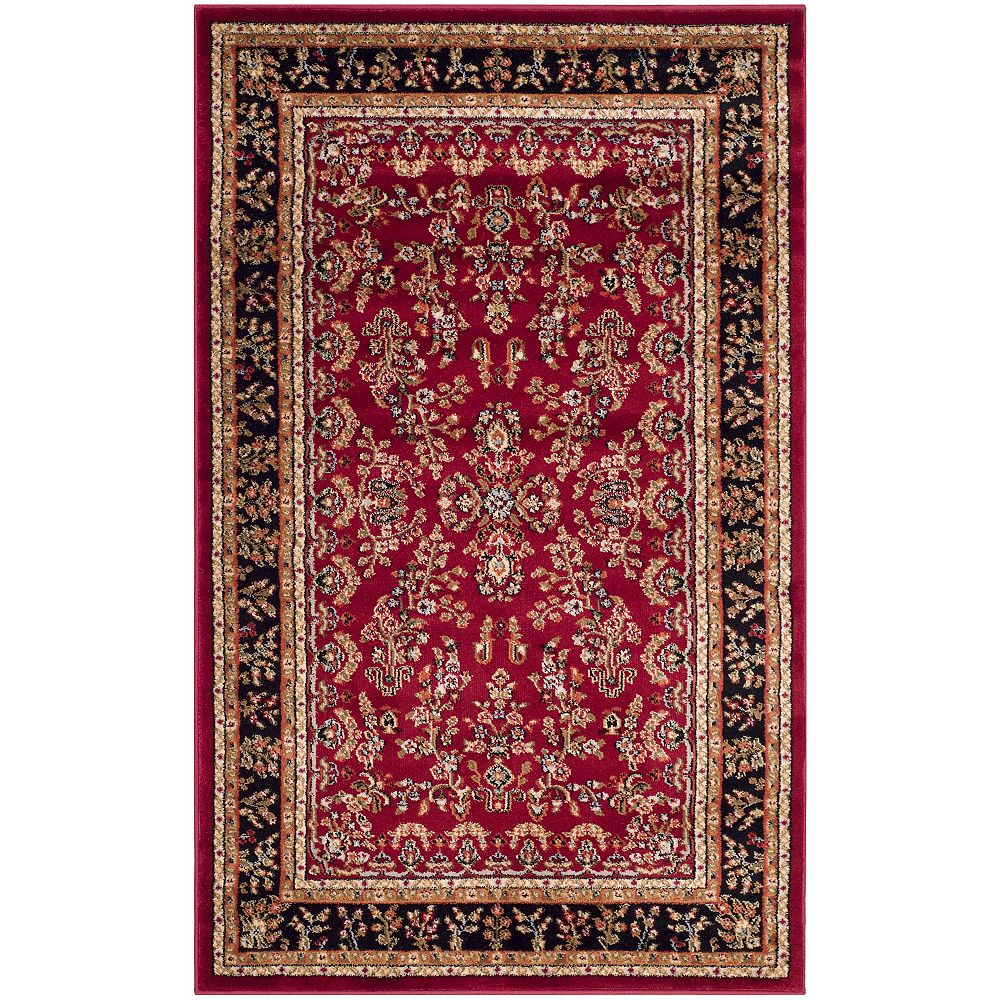 Safavieh Lyndhurst Greta Red / Black 2 ft. 3 inch x 4 ft. Indoor Area Rug
