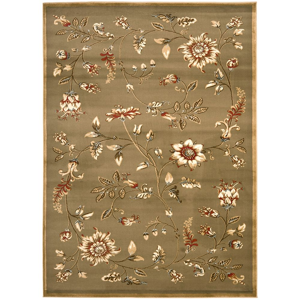 Safavieh Lyndhurst Hugo Green / Multi 5 ft. 3 inch x 7 ft. 6 inch Indoor Area Rug