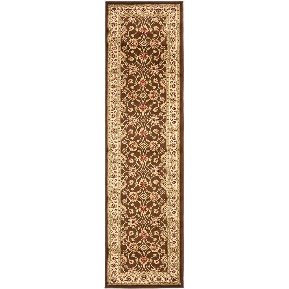 Safavieh Tapis de passage d'intérieur, 2 pi 3 po x 12 pi, Lyndhurst Emmett, brun / ivoire