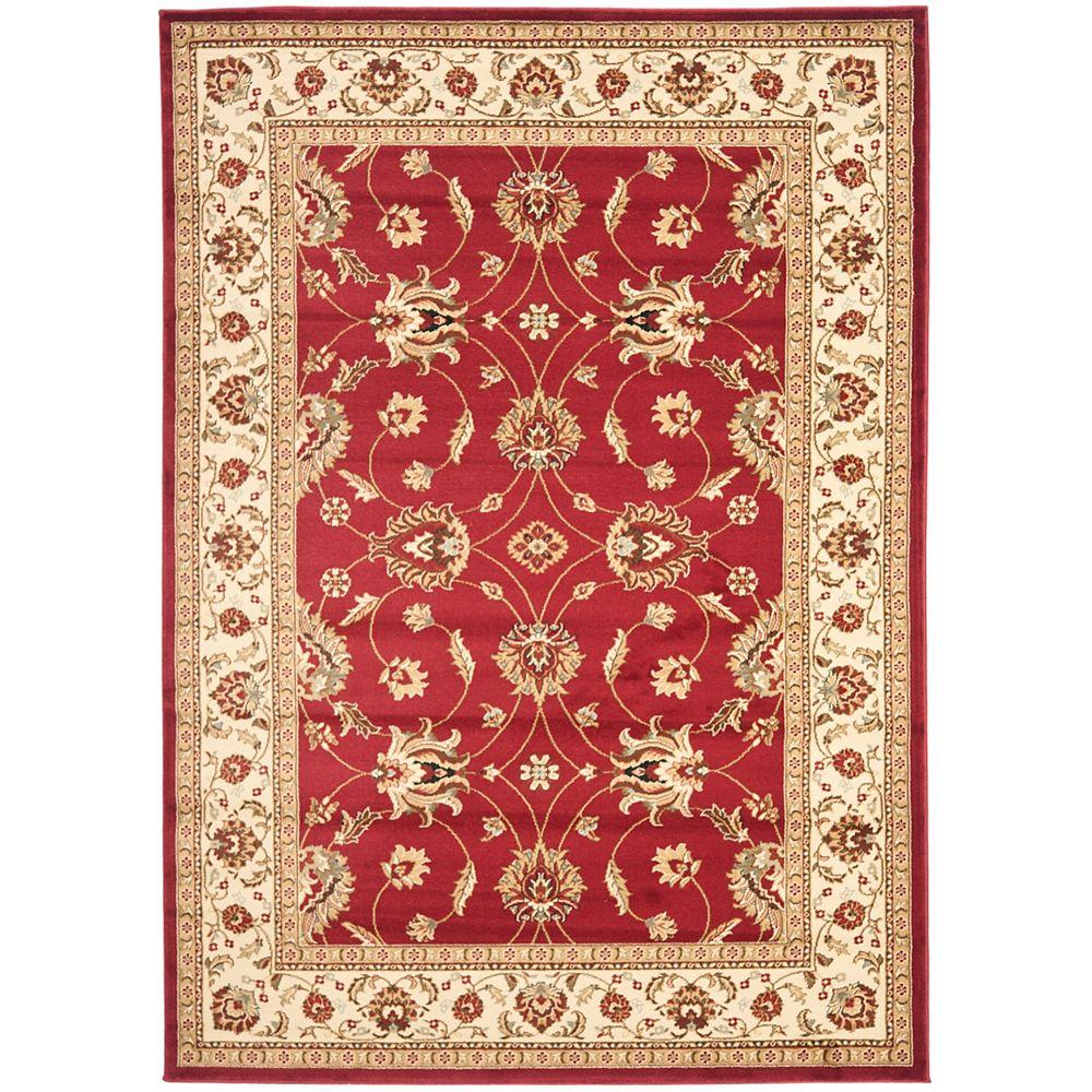 Safavieh Lyndhurst Emmett Red / Ivory 8 ft. x 11 ft. Indoor Area Rug