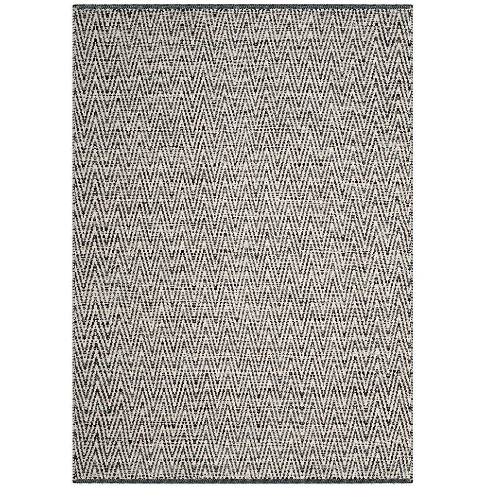 Safavieh Montauk Clint Ivory / Dark Grey 4 ft. x 6 ft. Indoor Area Rug