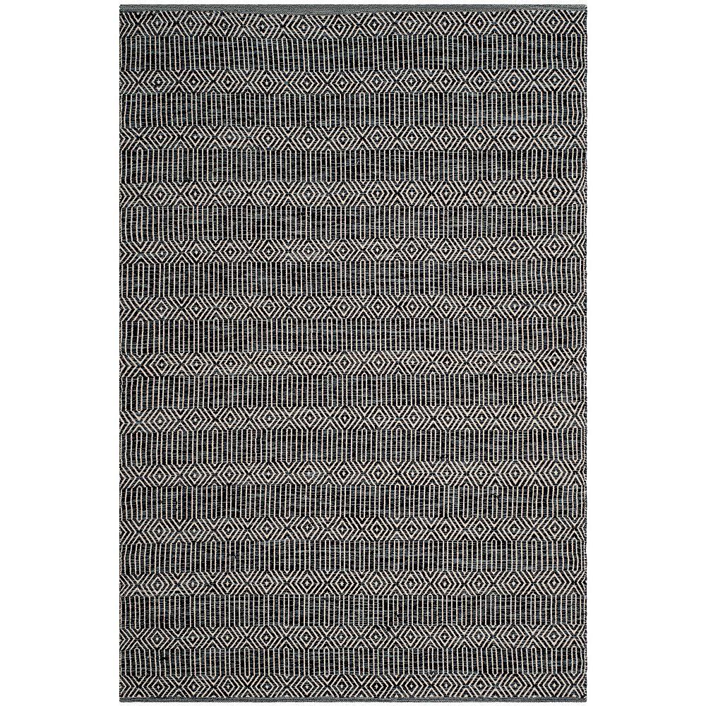Safavieh Tapis d'intérieur, 5 pi x 7 pi, Montauk Peyton, ivoire / dark gris