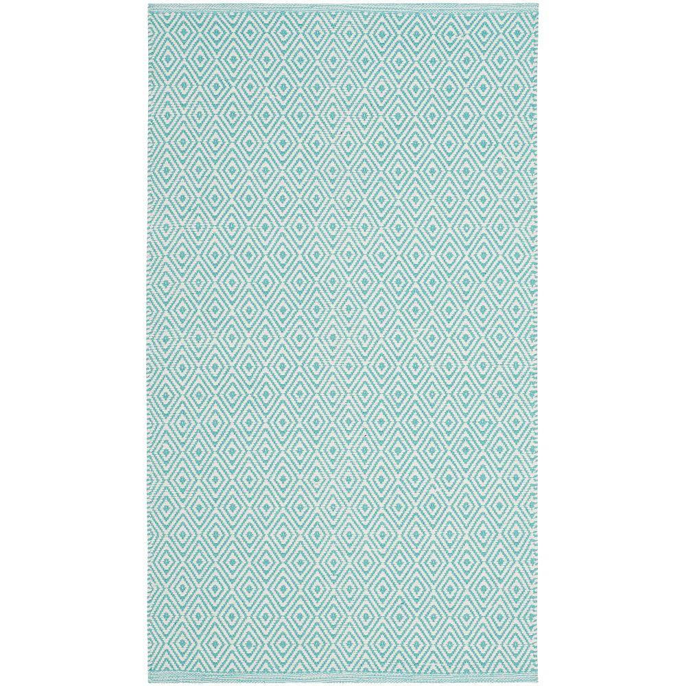 Safavieh Montauk Rachel Ivory / Aqua 2 ft. 6 inch x 4 ft. Indoor Area Rug