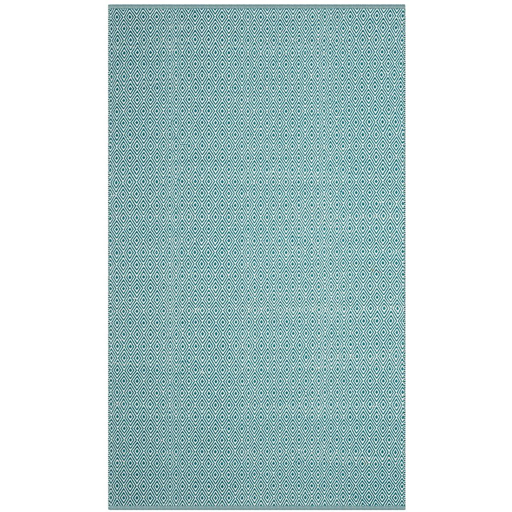 Safavieh Montauk Rachel Ivory / Turquoise 5 ft. x 8 ft. Indoor Area Rug