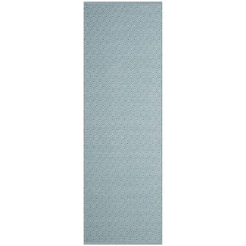 Safavieh Montauk Rachel Ivory / Light Blue 2 ft. 3 inch x 8 ft. Indoor Runner