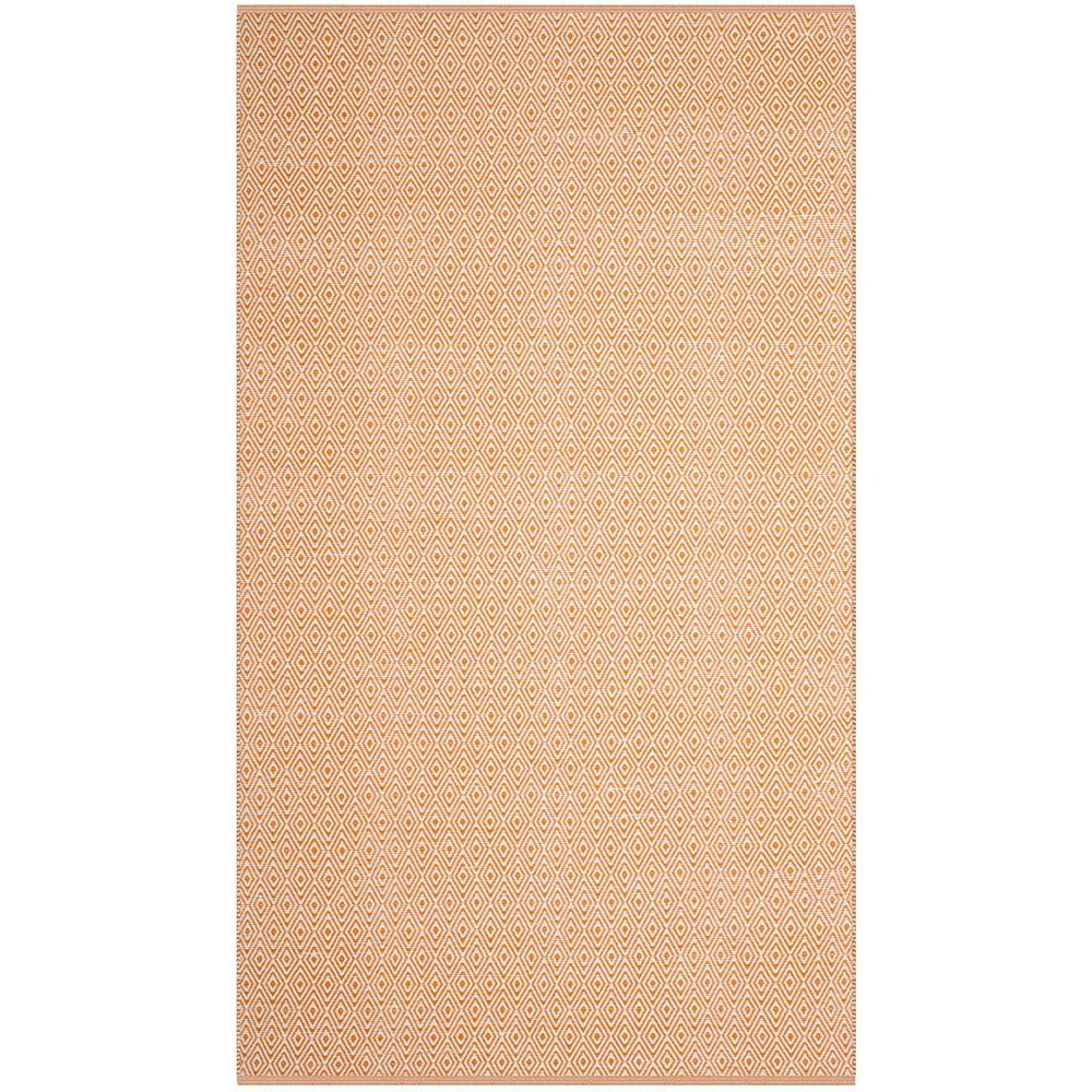 Safavieh Tapis d'intérieur, 4 pi x 6 pi, Montauk Rachel, ivoire / brun rouille