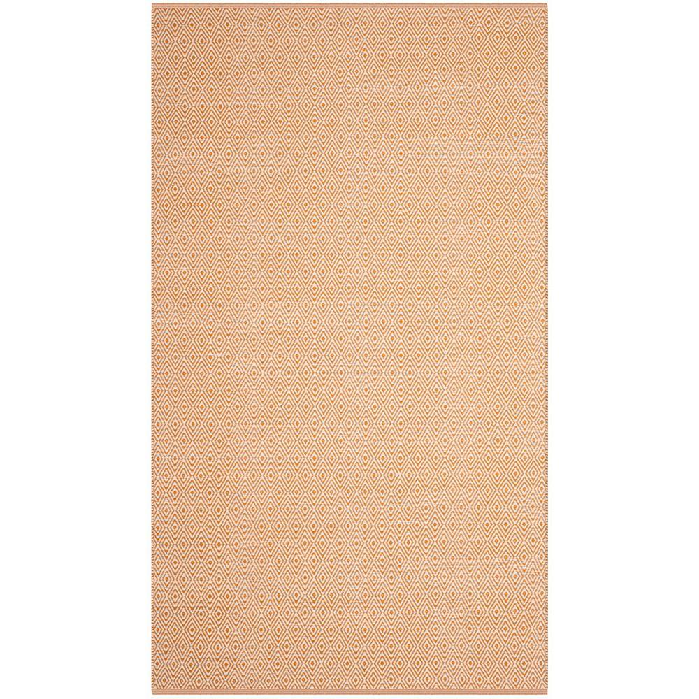 Safavieh Tapis d'intérieur, 5 pi x 8 pi, Montauk Rachel, ivoire / brun rouille