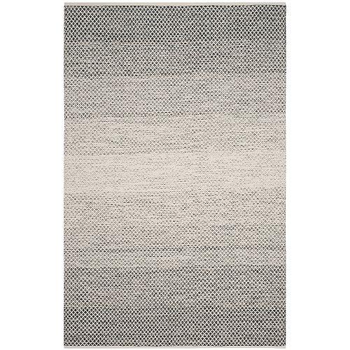 Tapis d'intérieur, 6 pi x 9 pi, Montauk Aimee, noir / ivoire