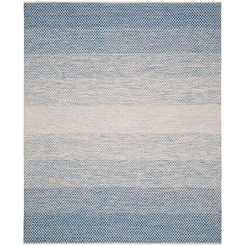 Tapis d'intérieur, 8 pi x 10 pi, Montauk Aimee, bleu / ivoire