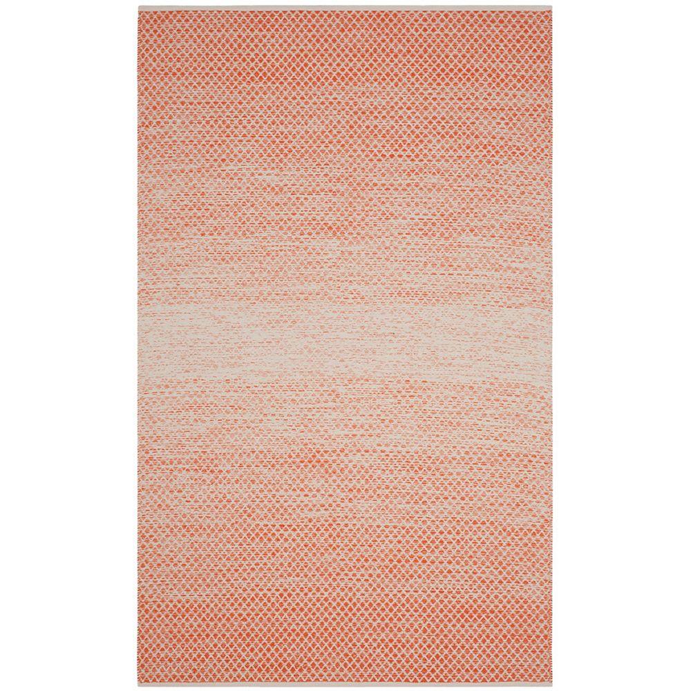 Safavieh Tapis d'intérieur, 6 pi x 9 pi, Montauk Aimee, orange / ivoire