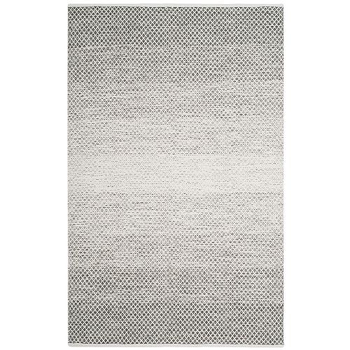 Tapis d'intérieur, 4 pi x 6 pi, Montauk Aimee, gris clair / ivoire