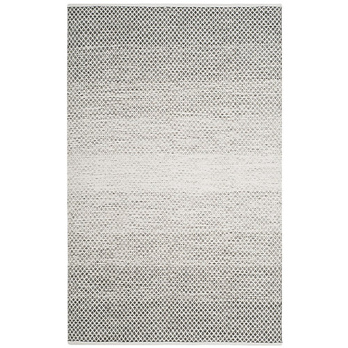Montauk Aimee Light Grey / Ivory 5 ft. x 8 ft. Indoor Area Rug