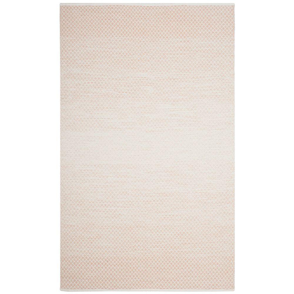 Safavieh Tapis d'intérieur, 4 pi x 6 pi, Montauk Aimee, beige / ivoire