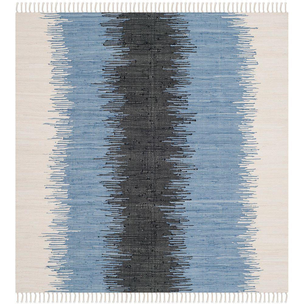 Safavieh Tapis d'intérieur carré, 4 pi x 4 pi, Montauk Mort, gris / noir